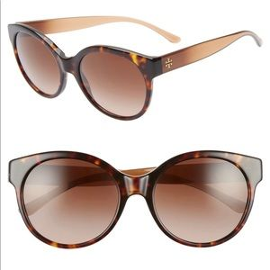 Tory Burch 55mm Round Sunglasses